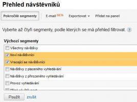 Přehled návštěvníků Google Analytics