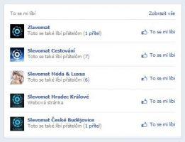 Slevomat oblibene - produkty na facebooku