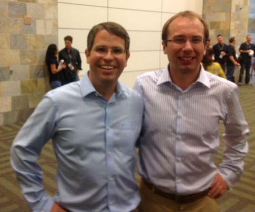 Na fotografii je ředitel naší agentury Robert Němec s šéfem webspam týmu Googlu Mattem Cuttsem v Kalifornii.