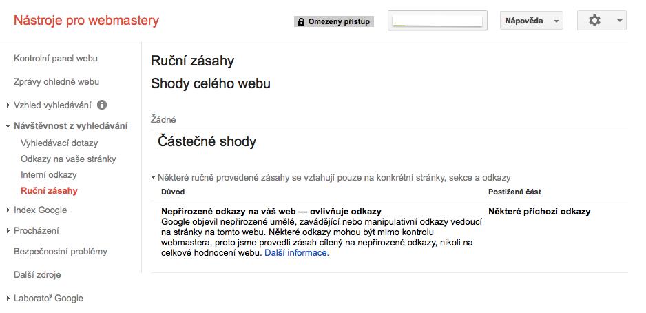 Google nástroje pro webmastery