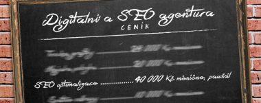 Ceník pochybné SEO agentury