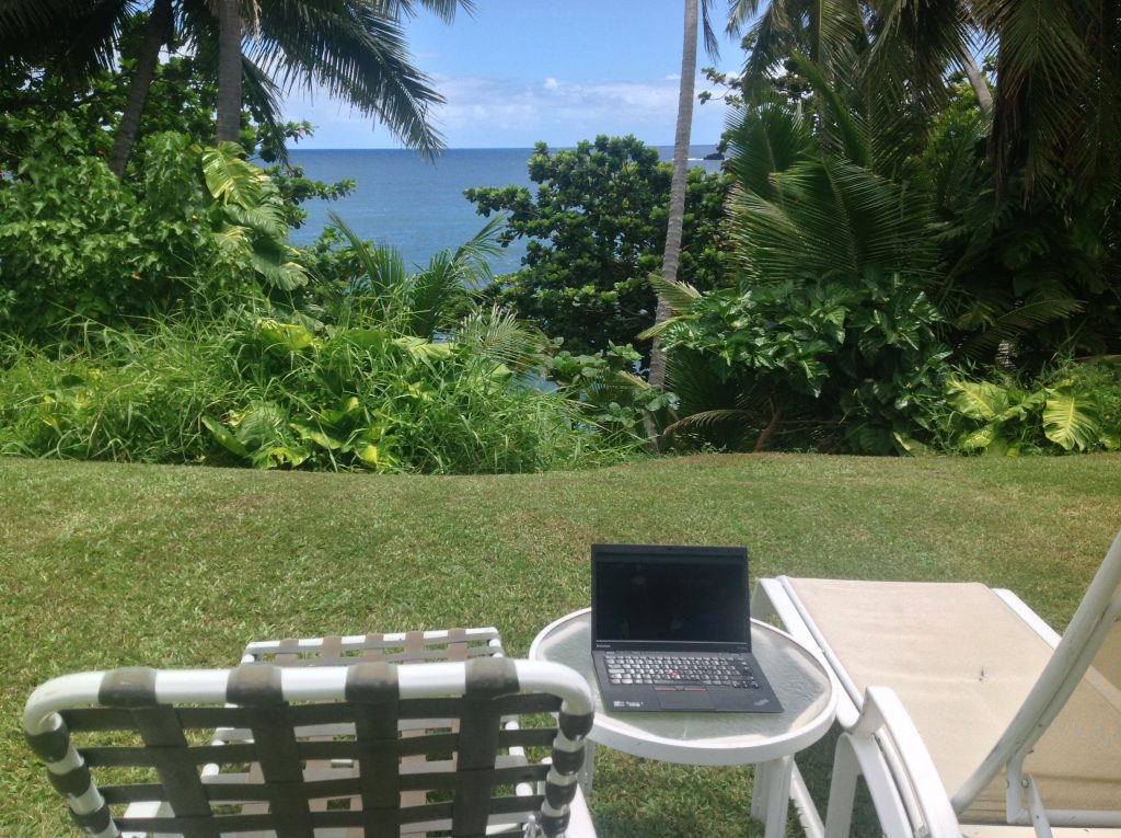 Práce na Havaji
