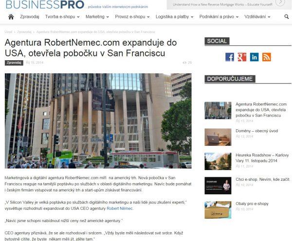 Businesspro a marketingová agentura RobertNemec.com
