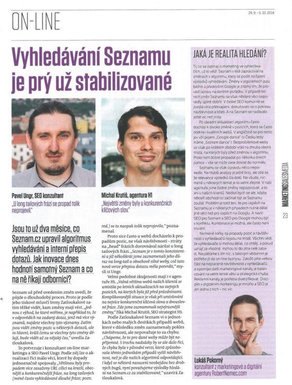 Lukáš Pokorný komentuje změny algoritmů na Seznam.cz