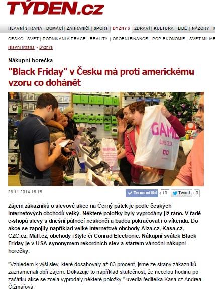 Robert Němec pro Týden.cz o Black Friday