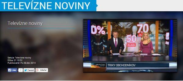 Robert Němec v Televizních novinách na TV Markíza