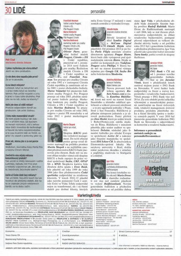 Kateřina Růžičková z agentury RobertNemec.com