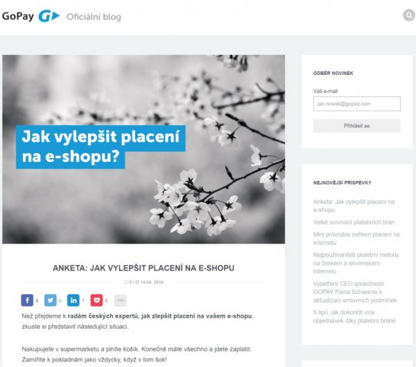 GoPay - Jak vylepši placení na e-shopu