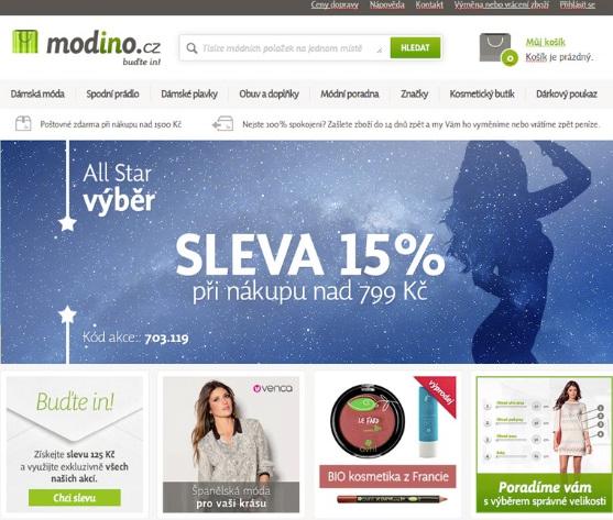 Modino.cz - home page