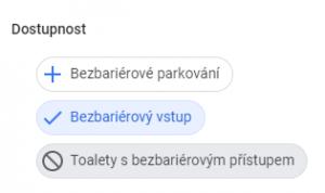 Atributy Google My Business